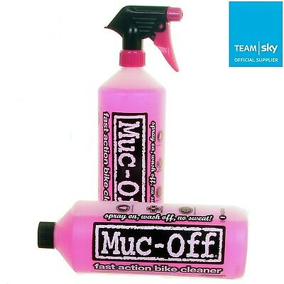 Muc-Off Twin Pack Bicycle Nano Tech Spray - Bike/Cycle Cleaner Duo 2 x 1 Litre