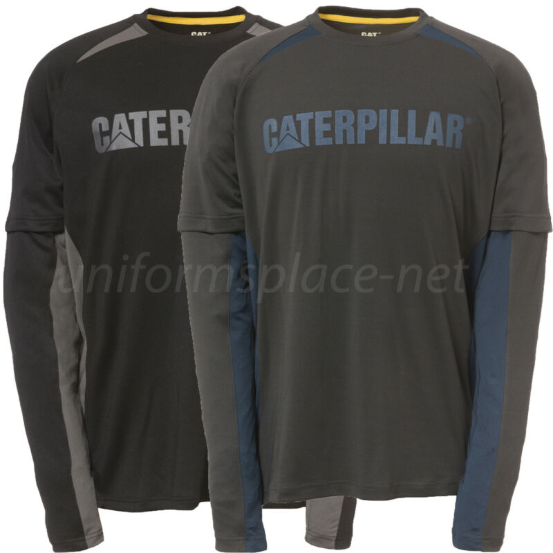 Caterpillar T shirt Men CAT Expedition Long Sleeve Tee 1510271 Moisture Control