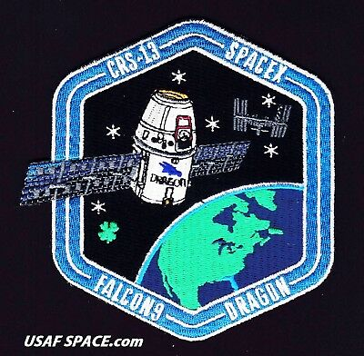 NEW CRS-13 - SPACEX ORIGINAL FALCON-9 DRAGON F-9 ISS NASA RESUPPLY Mission PATCH