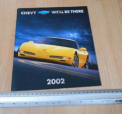Chevy 2002 Sales Catalogue Impala, Camero, etc
