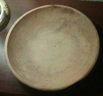 Antique Appalachian primitive turned wooden bowl.