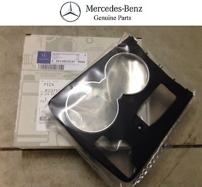 Genuine OEM Mercedes Benz C Class W204 Black Console Cup Holder Trim Cover