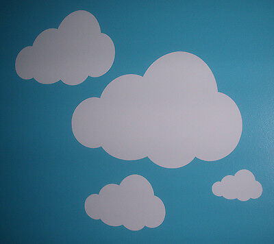 White Clouds Decal Sticker Lot of 18 Wall Art Nursery Children's Room 3