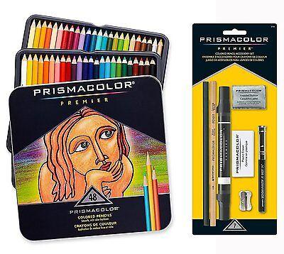 Prismacolor Premier Colored Pencils Soft Core 48 Count With 7 Piece Bonus