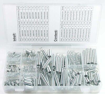 Craft-Equip 200 tlg. Zug- und Druckfedern Set Feder Sortiments - Box Druckfeder