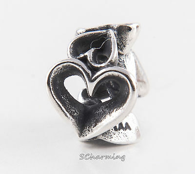 Authentic Trollbeads Silver bead called Hearts Galore - Beads Galore