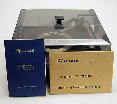 Rare Vintage Garrard AT60 4 Speed Automatic Turntable with Shure RS9E Cartridge