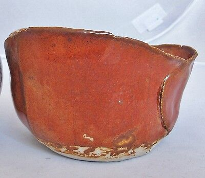 "Vintage Mid Century Signed ROSE DODDS Orange Studio Art Pottery Vase  (5.5"")"