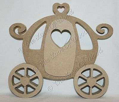 Free standing 3D PRINCESS CARRIAGE craft shape MDF 18mm thick