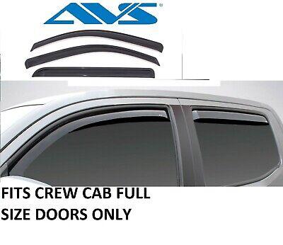 Rain Guards In-Channel Window VentVisor 09-2018 for RAM 1500 2500 3500 CREW CAB