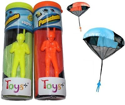 """2Pack Tangle Free Throwing Toy Parachute Man with Large 20"""" Parachutes!"""