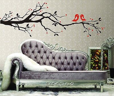 Home Decoration - Love Tree Branch Birds Removable Wall Decal Vinyl Stickers Art Decor Home Mural