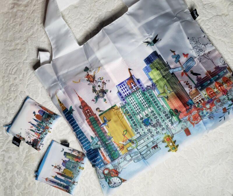 LOQI Artist Kristjana S Williams Interiors Reusable Shopping Bag, O/S, New York