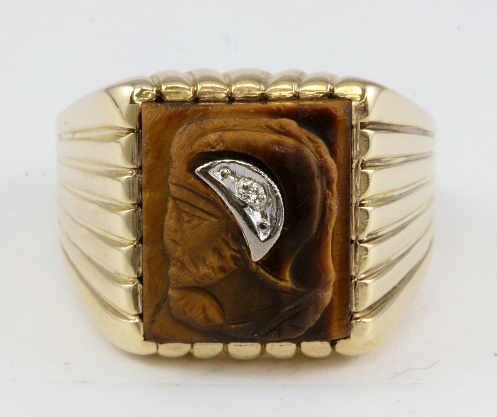 Tigers Eye Roman Soldier Ring