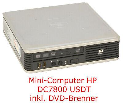 MINICOMPUTER HP DESKPRO DC7800 USDT 2GB SLIM DVDBRENNER 160GB FESTPLATTE 8USB MM Mini 160 Gb Usb