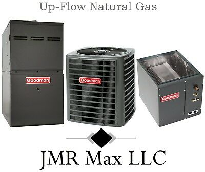 80% Up-Flow 60K btu Natural Gas Furnace + 2 Ton 13 SEER AC Complete System #1