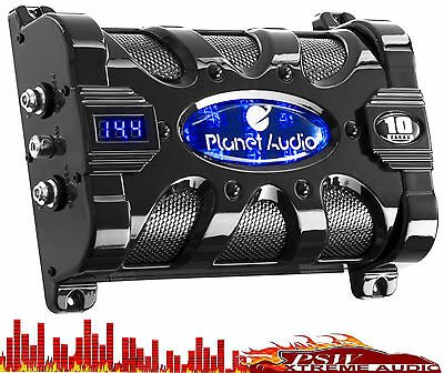PC10F Planet Audio 10 Farad Power Capacitor with Digital Voltage Display