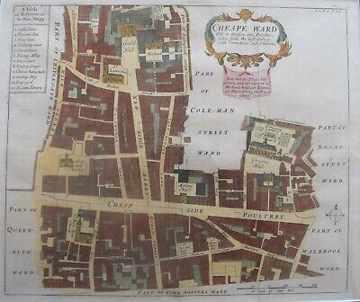 London 1680/'s Interesting Historic Old City Map 24x32