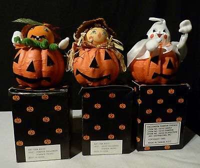 Halloween Pumpkin Friends - Small Decorative Pumpkin Figurines - Free shipping!](Small Halloween Figurines)