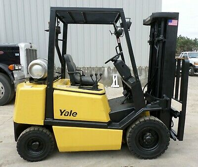 Yale Model Glp050tg 1999 5000 Lbs Capacity Great Pneumatic Tire Forklift