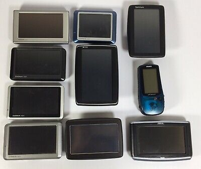 Lot Of 10 GPS Garmin, Tom Tom & Magellan Some Cases And USB Bundle