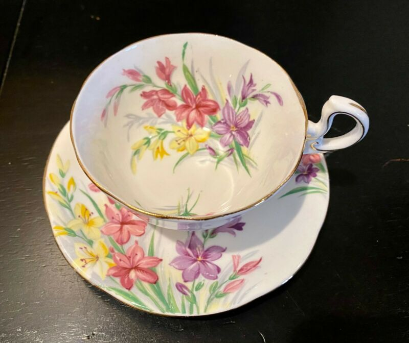 Garden Glory Tea Cup/Saucer Set Royal Standard England Bone China