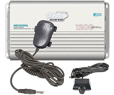 (MR1200PA Boss 1200 Watt / 4 Channel Marine Amplifier with a built-in PA system)
