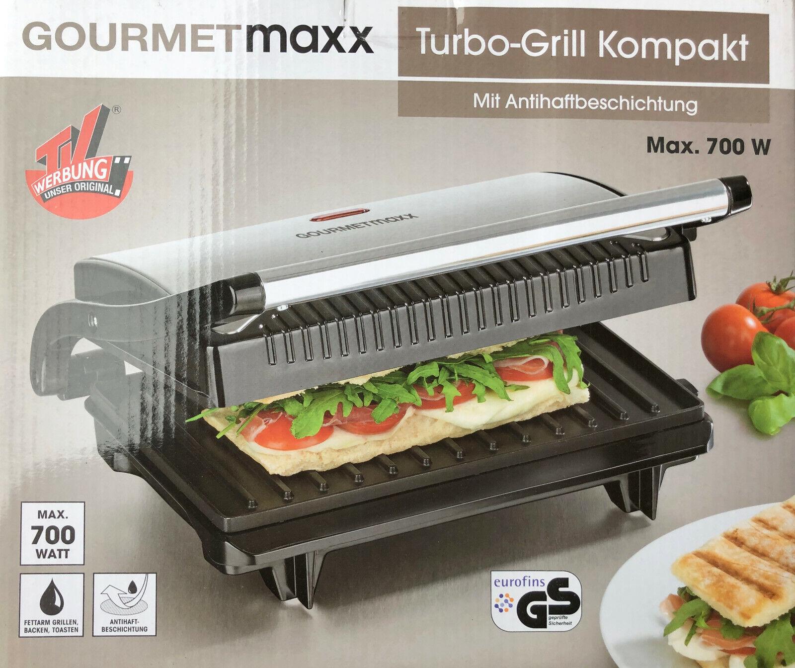 Gourmetmaxx Turbo Grill Kompakt 700 Watt Mit Antihaftbeschichtung Neu