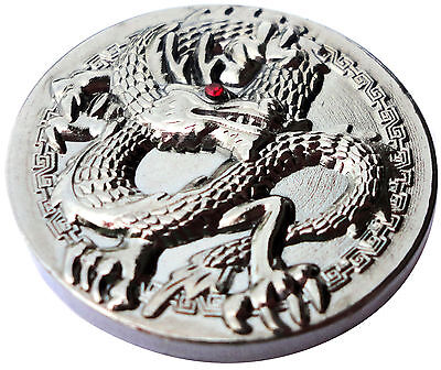 Dragon Golf Ball Marker w/Pewter Finish and Red Crystal Eye - Package of 2 ()