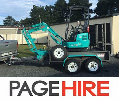 FOR HIRE - 1.7t EXCAVATOR - $200 PER DAY on a trailer!