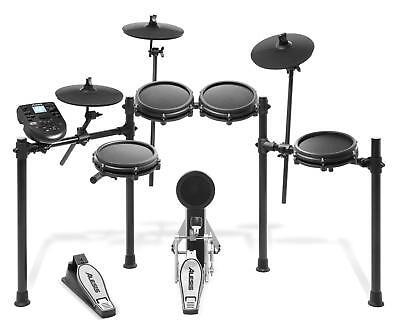 Alesis Nitro Mesh E-Drum Kit Schlagzeug Snare Mesh Pad Tom Ride HiHat...