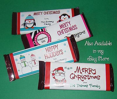 Halloween Hershey Bar Wrappers (20 HERSHEY CANDY BAR LABELS Christmas Holiday Glossy Wrapper Party)
