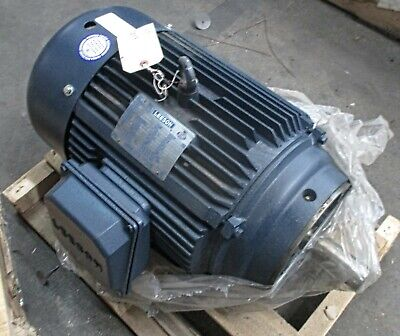 Leeson 20hp 1760rpm 256tc Tefc 3ph Motor G150080 New Surplus Free Returns