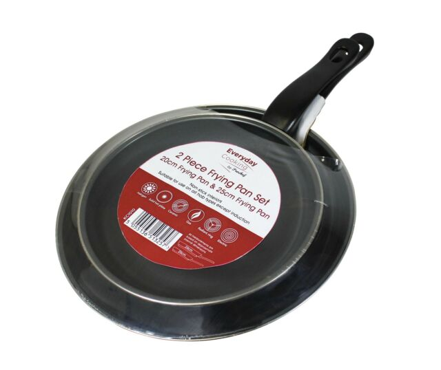 SALE Pro Chef 2 Piece Frying Pan Set Carbon Steel Fry Pan