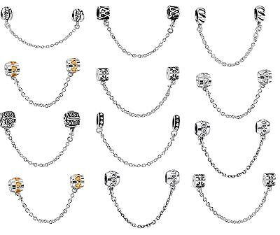 European Safety Chain Charms Beads For 925 Silver Fashion Snake Bracelet Chain](Silver Charms For Bracelets)