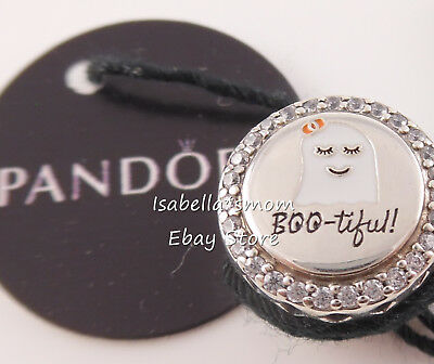 BOO-Tiful! Authentic PANDORA Enamel HALLOWEEN Ghost Charm ENG792016CZ_20 w TAG!