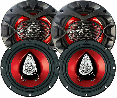 JEEP Wrangler BOSS (4) 300 Watt Speaker Upgrade Kit 2007 2014 CH6530