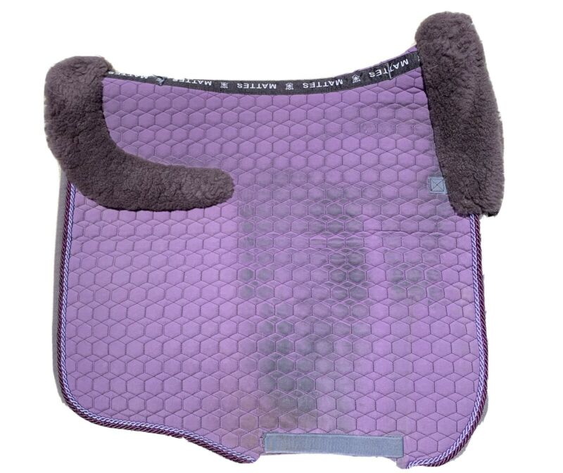 Mattes dressage saddle pad, purple, custom
