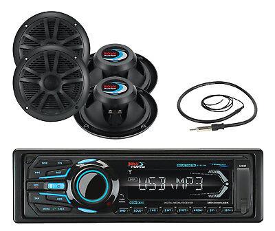 53882c94636 New MR1308UABK Marine MP3 AM/FM Bluetooth Stereo + Black 6.5