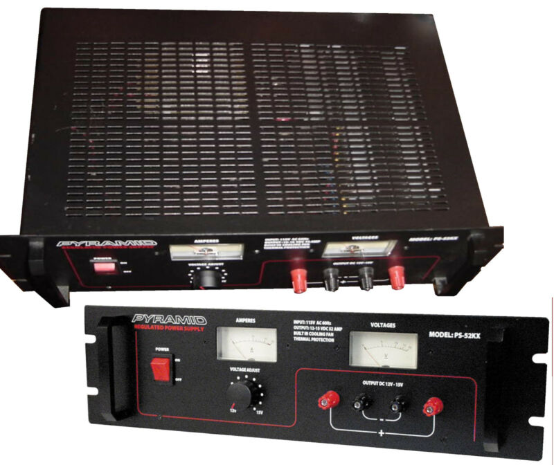 PS52KX 52A 13.8-v Regulated Power Supply w/ Built-in Cooling Fan 120vAC>12vDC ce