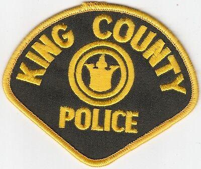 OLDER KING COUNTY POLICE SHOULDER PATCH WASHINGTON WA SHERIFF
