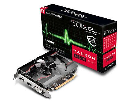 SAPPHIRE Radeon PULSE RX 550 2G (11268-21-20G) (AMD, Grafikkarte)