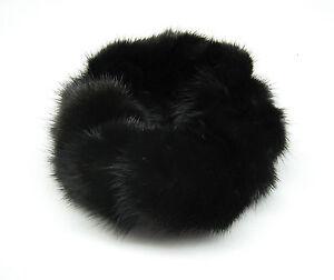Hand made new REAL natural MINK FUR scrunchie/hair tie/ponytail holder/elastic