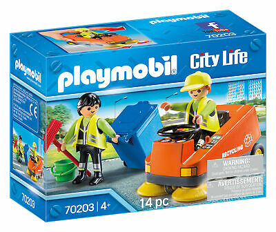 70203 Playmobil Street Road Sweeper with Figures & Accessories City Life Age...