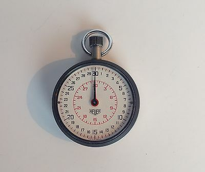 VINTAGE HEUER 30 Minute Lap timer STOP WATCH - 1960's / 1970's - Working