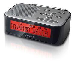 NEW Motorola MWR822 Weather Alert Radio & Alarm Clock with AM/FM