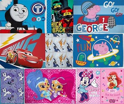 Kids TV Fleece Throw Blanket George Peppa Pig Thomas Disney Cars Minnie Lego etc