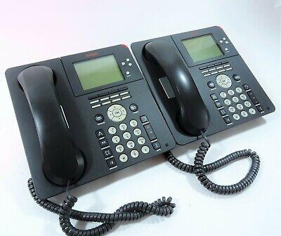 Set Of 2 Avaya Business Phone Model 9650 Voip Digital Ip Office Handset W Stand