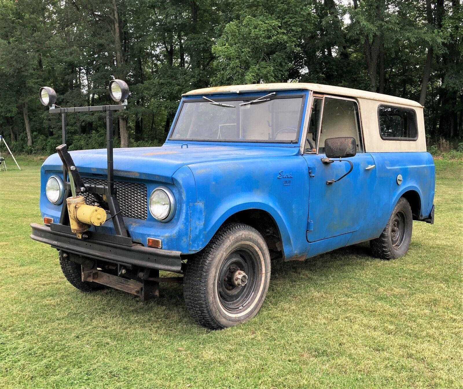 1963 International Harvester Scout 80 4 Cyl, 3 Speed, w/ Snow Plow