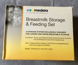 Breastmilk storage and feeding set